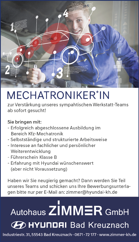 Mechatroniker/in gesucht